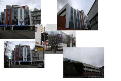 Комплекс Паркхауз с коммерческими площадями в Германии, Северная Вестфалия, в Менхенгладбахе (рядом с Дюссельдорфом).