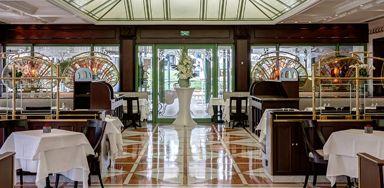Ресторан в Монако в «золотом квадрате».