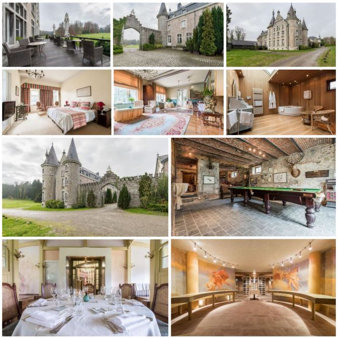 Потрясающий замок-гостиница 18 века в провинции Люксембург, Бельгия
