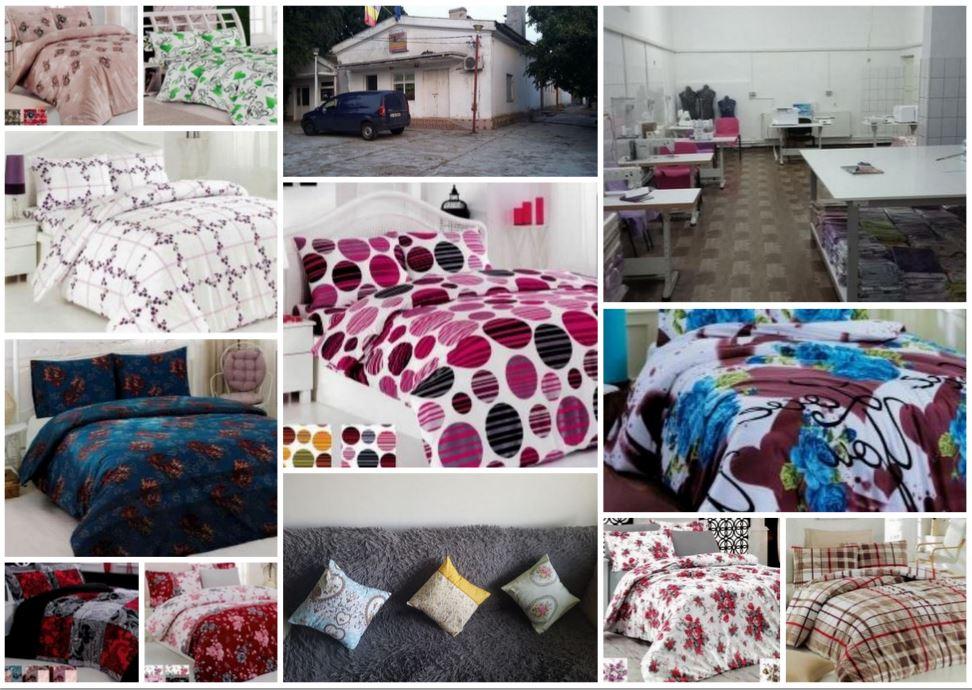Текстильный цех по производству высококачественного постельного белья и женской одежды в Европе – Румыния.