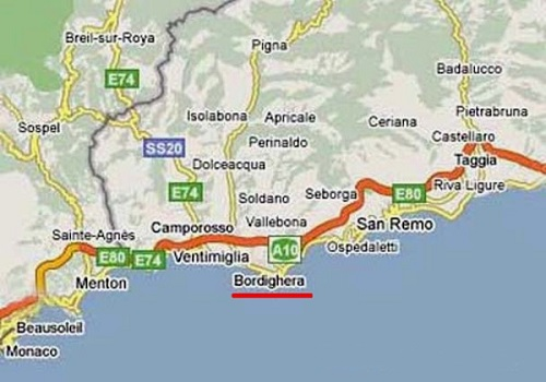 Участок под строительство виллы в Бордигере, Италия, в 15 мин. от Монако.