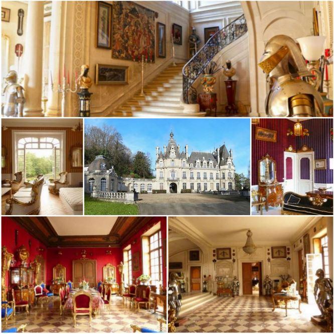 Прекрасный замок в менее часе езды от Парижа, Франция