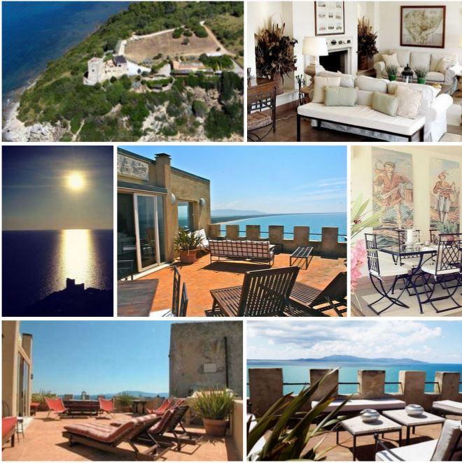 Знаменитая вилла Джеймса Бонда в Италии, Тоскана, с сумасшедшим видом на море и бессмертной вечной историей.