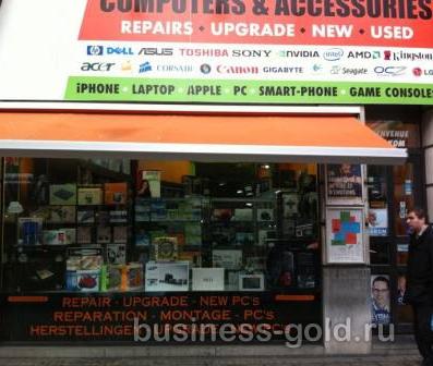Компьютерный магазин в Брюсселе