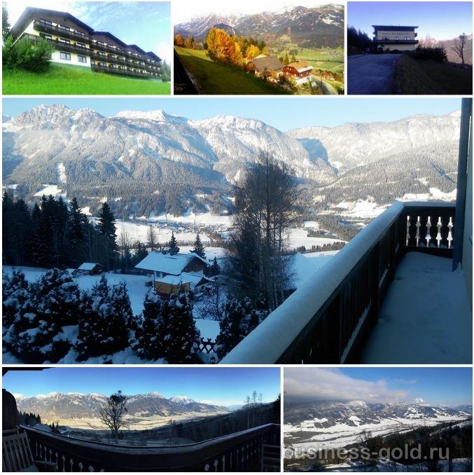 Гостиница в Австрийских Альпах.