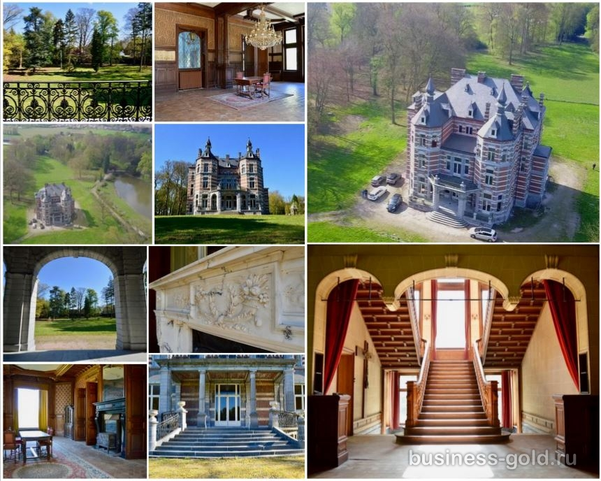 Красивый замок в Бельгии, рядом с Францией.